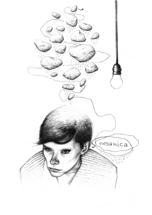 Insomnia - illustration, pencildrawing - natasakonjevic | ello