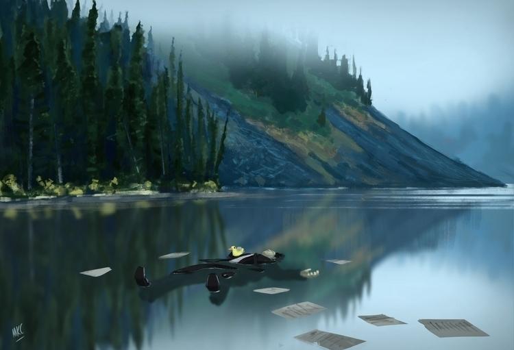 Chill - illustration, environment - maxkclifford | ello