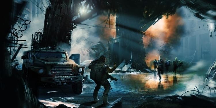 Zombies - painting, characterdesign - darrenlewis | ello