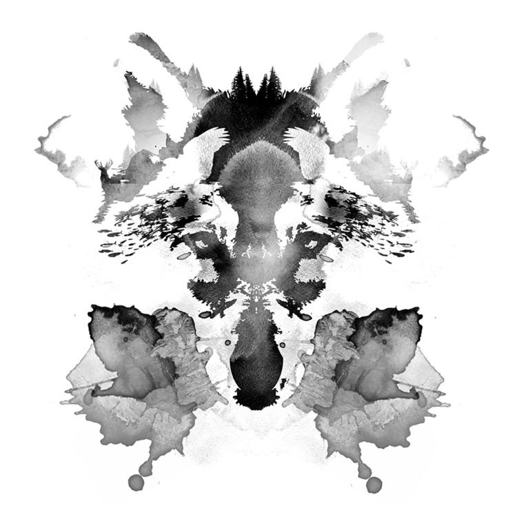 Rorschach - watercolor, wolf - astronaut-6456 | ello