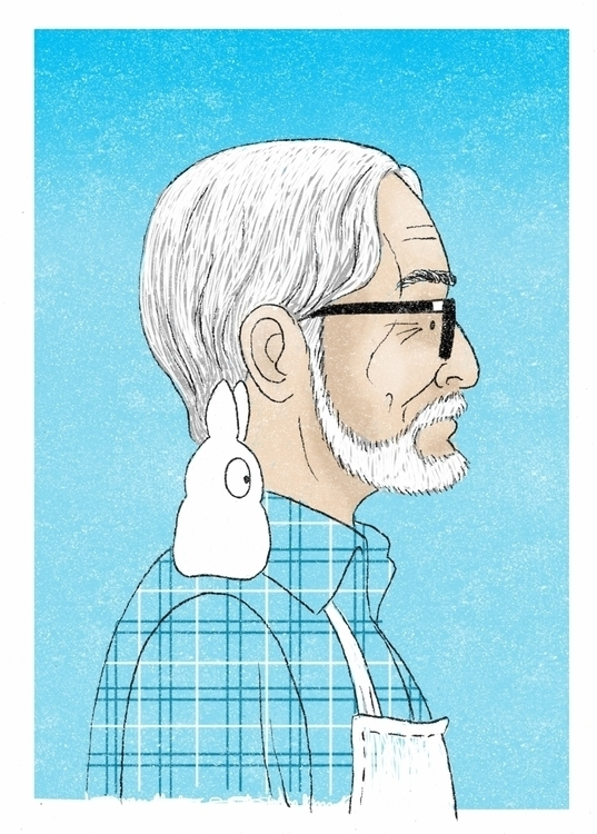 tribute Hayao Miyazaki. Inked M - zenink | ello