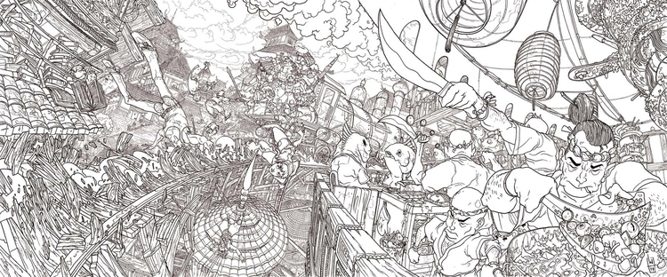 Locomotive - illustration, detailed - igorwolski   ello