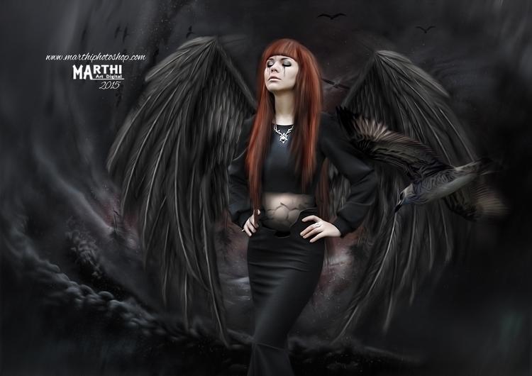 Bird Woman - conceptart - marthi | ello