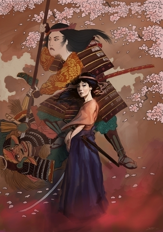 princess, samurai, japanese, warrior - rudyfaber | ello