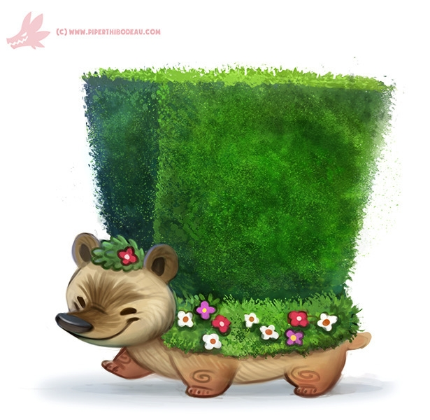 Daily Paint Hedge-hog - 1162. - piperthibodeau | ello