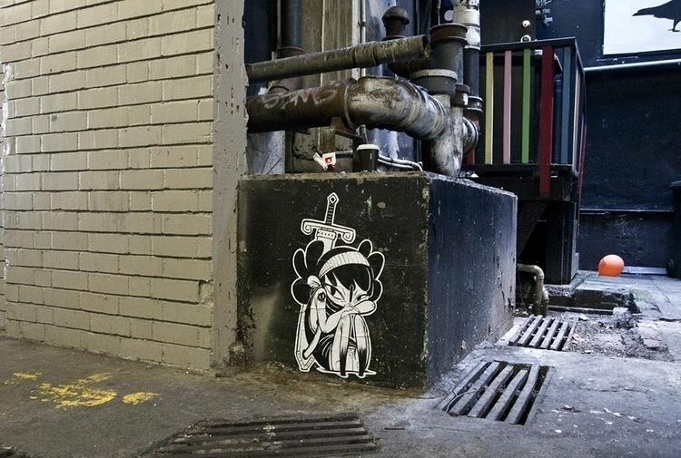 smoko - streetart, graffiti, wheatpaste - yoii | ello