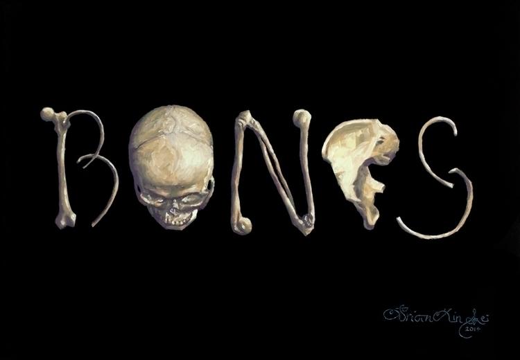 Bones Brian Lei - oilpainting, typography - brianlei | ello