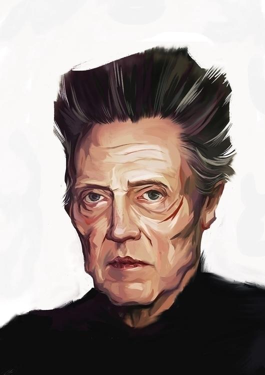 Christopher Walken - portrait, painting - miroedova | ello