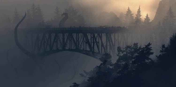Personal concept art Godzilla - illustration - julienhauville | ello