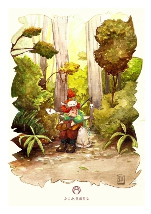 Forest - illustration, characterdesign - sapolendario   ello