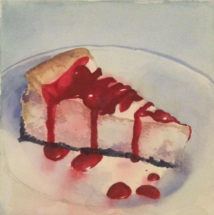 Cheesecake watercolor - illustration - vshek | ello