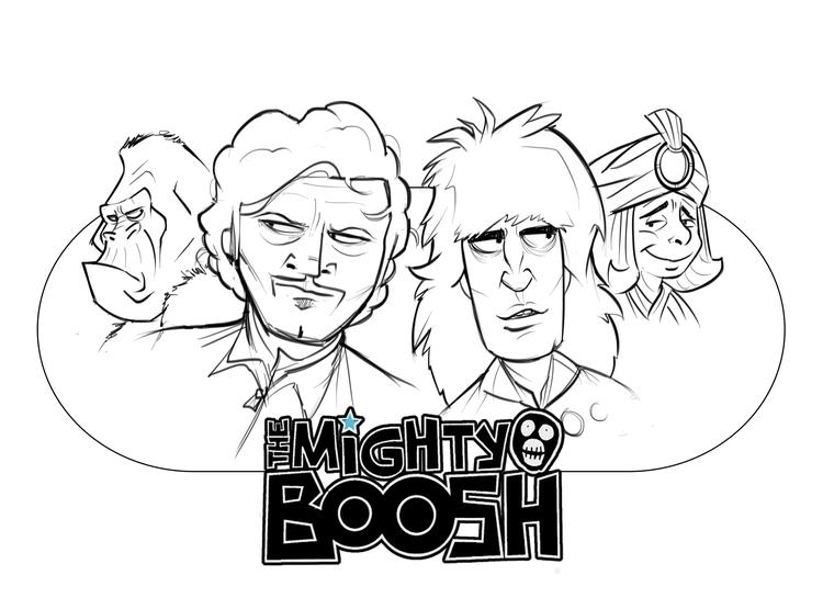 Mighty Boosh - illustration, drawing - darrenlewis | ello