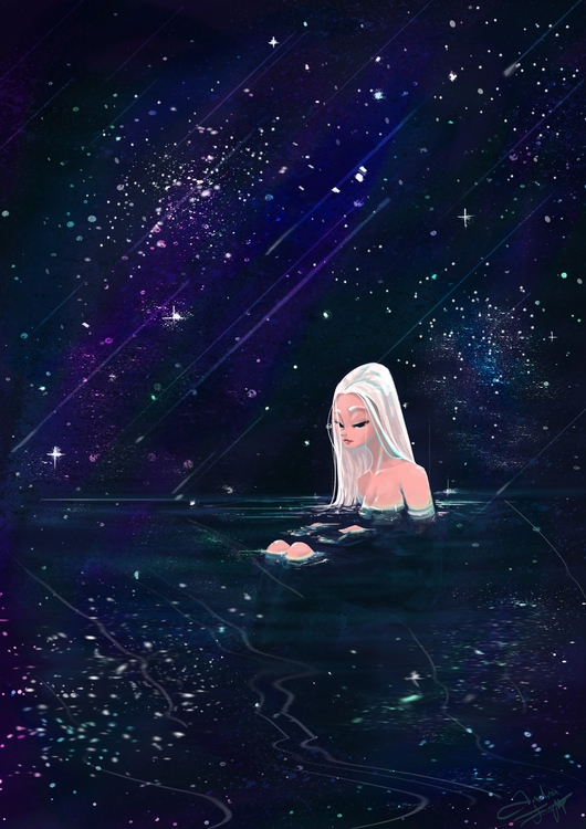 Bathing Starlight - starlight, digitalart - fishfranqz | ello