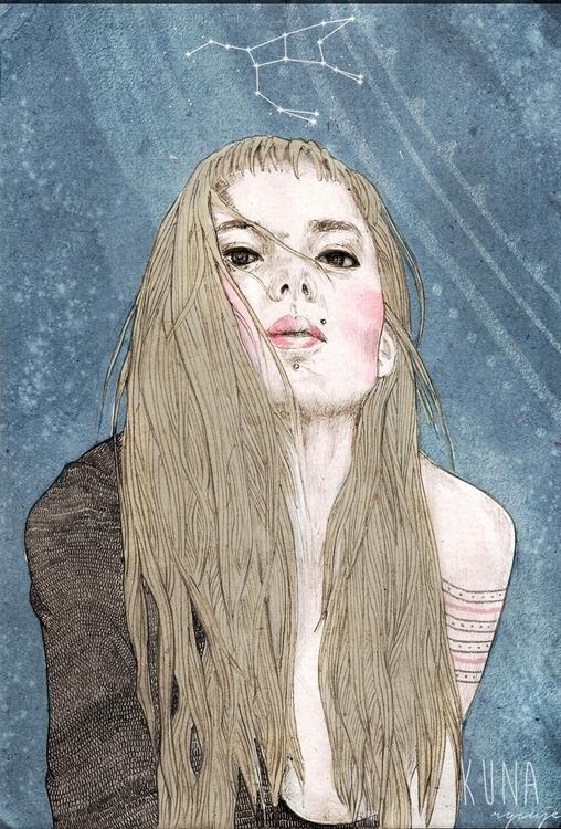 Frost - girl, draw, illustration - kunarysuje | ello