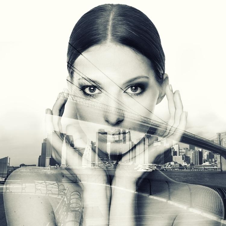 Double exposure City - conceptart - marthi | ello