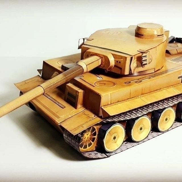 Paper Model 'Tiger 1 Tank - paperart - papersmithsingh | ello