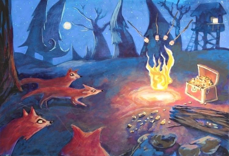 Storybook Illustration - Quest - artstory | ello