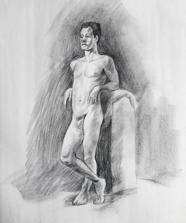 Resting pose - contecrayon, figuredrawing - artstory   ello