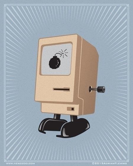 Wind Mac Poster - illustration, poster - alarmingfiend | ello