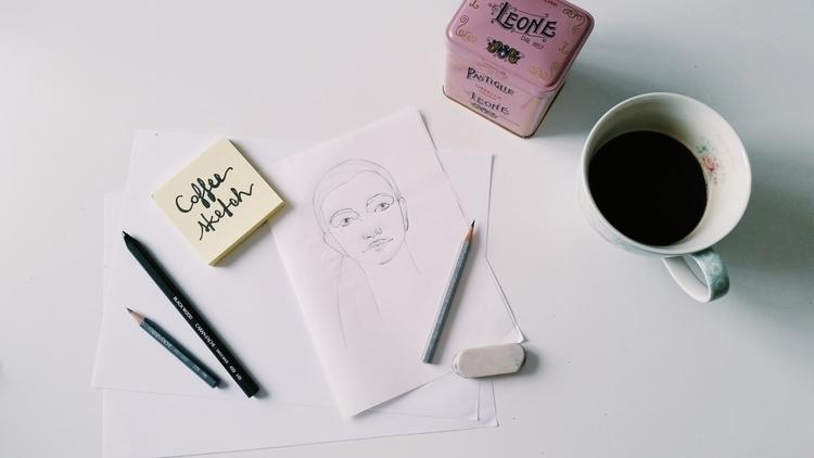 sketching, sketch, pencil, illustration - camillalocatelli | ello