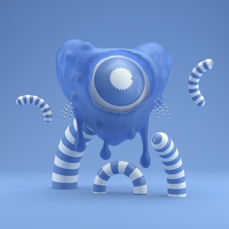 Dripping Blue - c4dart, c4d, cinema4d - hoang_anh_ | ello