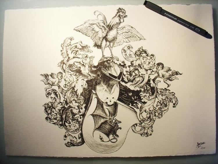 Custom coat arms - coatofarms, inkdrawing - yvo-1438 | ello