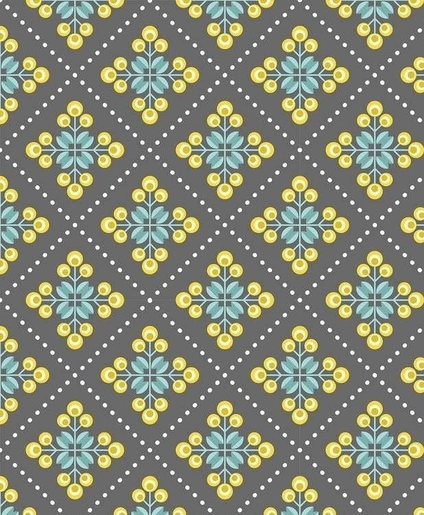RETRO FLOWERS wallpaper design  - slanapotam | ello