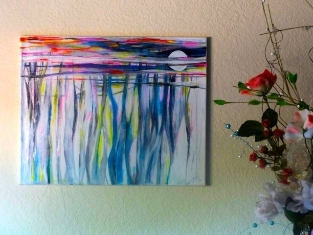 Summer Heat Acrylic Canvas - abstractpainting - lindawilliams | ello