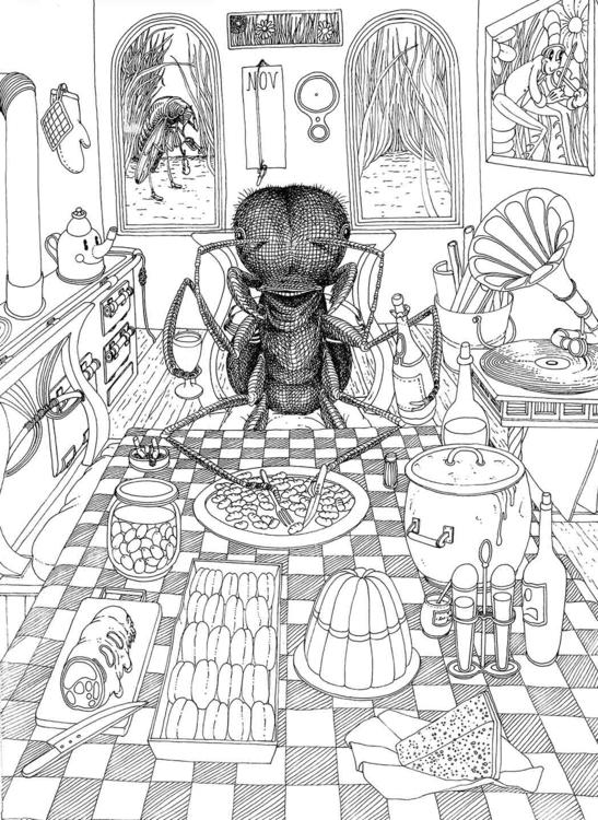 La Formica mangia - illustration - gabriele-8497 | ello