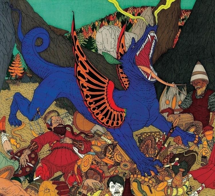 Il drago Fafnir - illustration, drawing - gabriele-8497 | ello