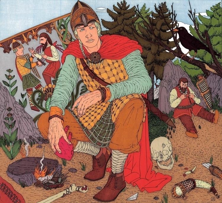 La premeditazione di Sigfrido - illustration - gabriele-8497 | ello