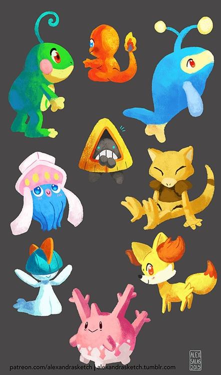 pokemon, fanart, doodles, digitalart - alexandrasketch | ello