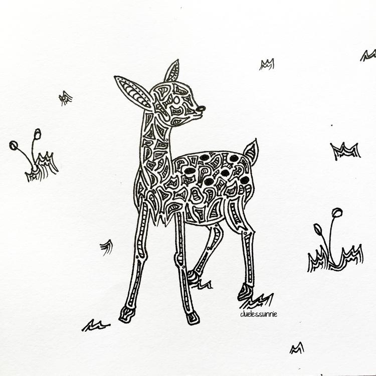 Deer - illustration, drawing, characterdesign - hanvone | ello