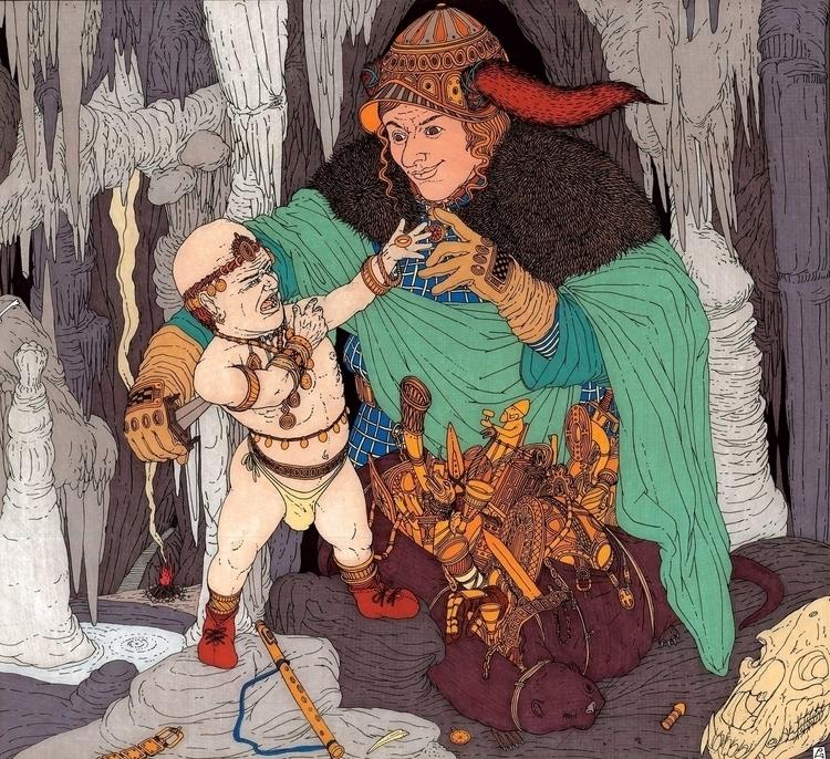 Loki il nano Andvari - illustration - gabriele-8497 | ello