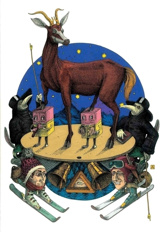 Il Dahu - illustration, drawing - gabriele-8497 | ello