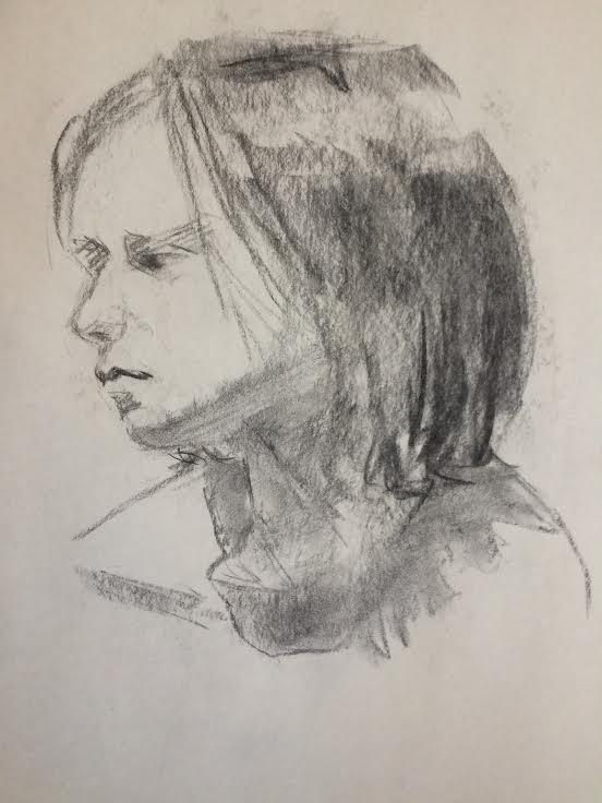 Study female head, 2014 - sketch - rachelbishop | ello