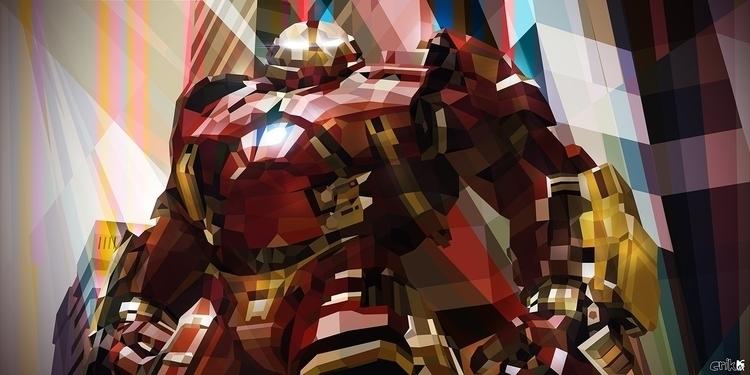 Hulkbuster - ironman, fanart, illustration - erikdgmx | ello