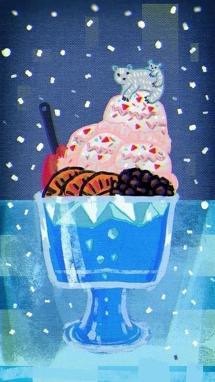 ice flakes syrup - illustration - soso-6104 | ello