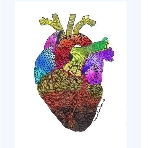 Corazón Delator - zentangle, cerati - malalatiseira | ello