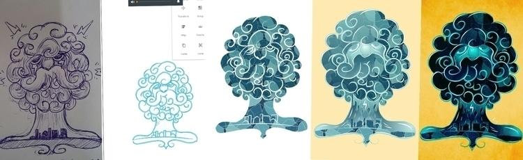 Rain - illustration, drawing, design - rayssamc | ello
