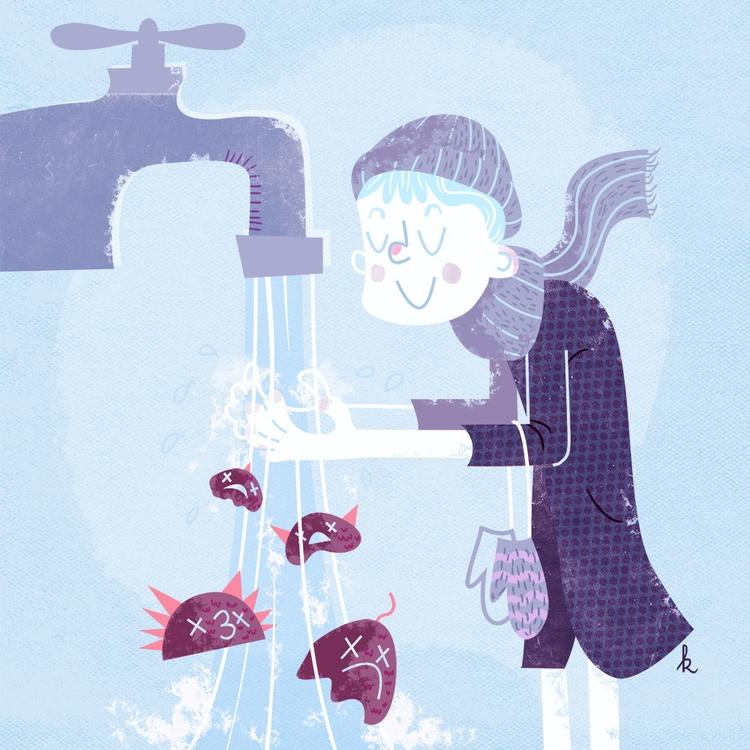 forget wash hands - hygiene, winter - ktoons | ello