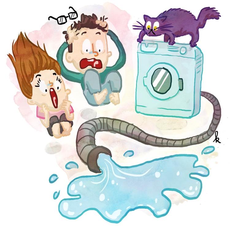 Washing machine loose - illustration - ktoons | ello