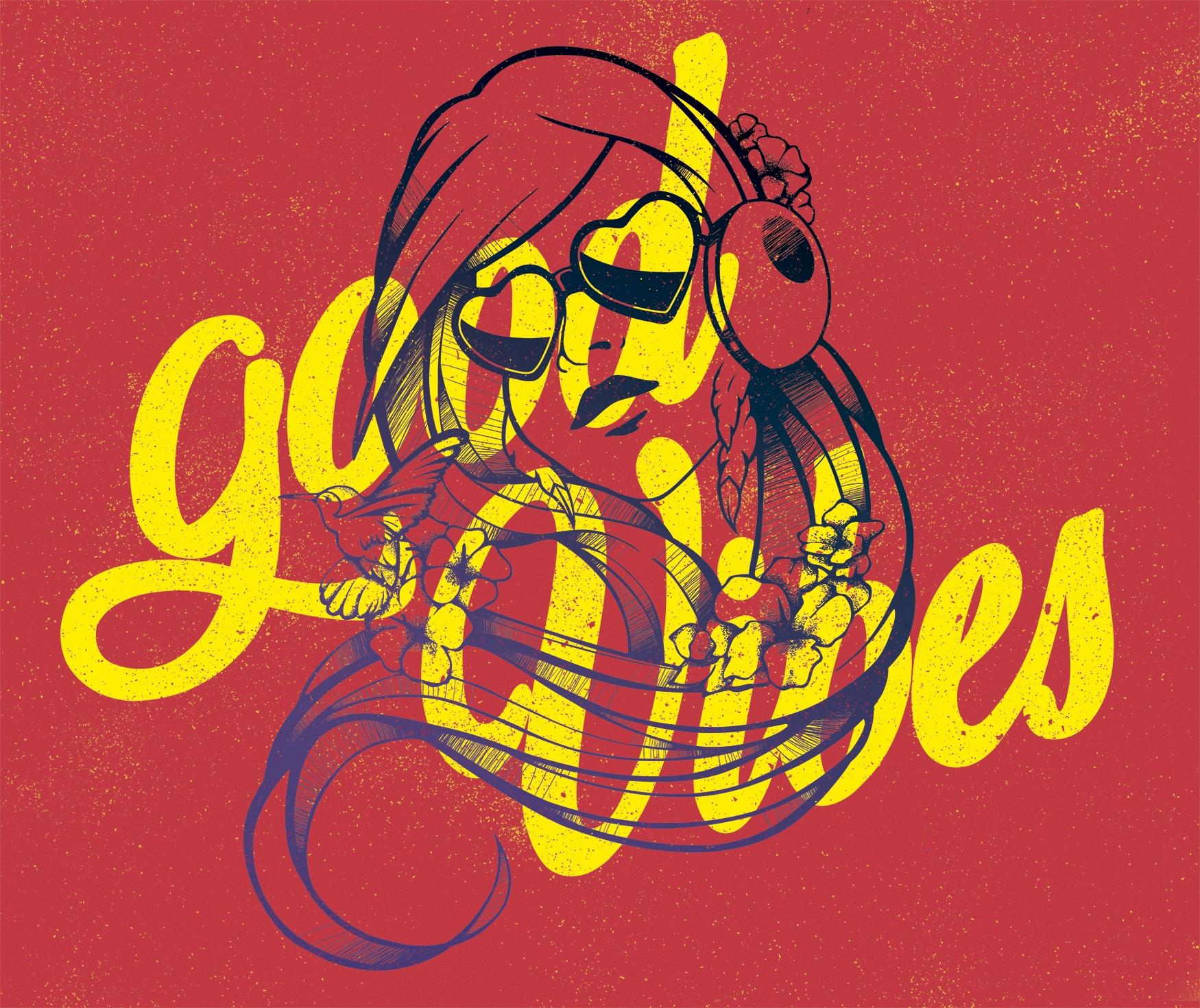 Good Vibes tshirt design - illustration - laranoia | ello