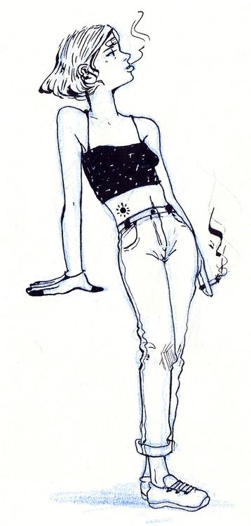 pissed girls favourite - sketch - tinch-5314 | ello