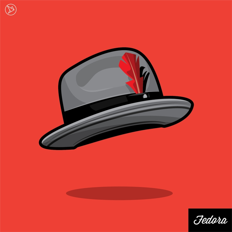 Fedora Hat - illustration, vector - superslap15 | ello