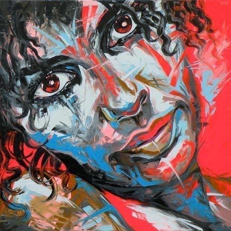 Audrey - painting, oiloncanvas, faces - corentin-7918 | ello
