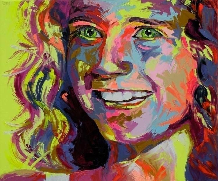 Amira - painting, pop-art, fluo-art - corentin-7918 | ello