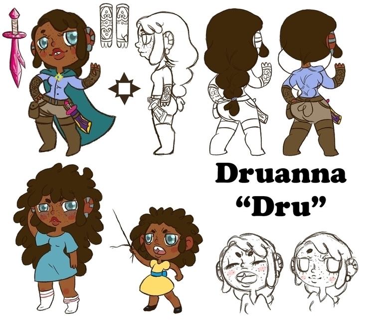 Dru - characterdesign, illustration - jennifervolkman | ello