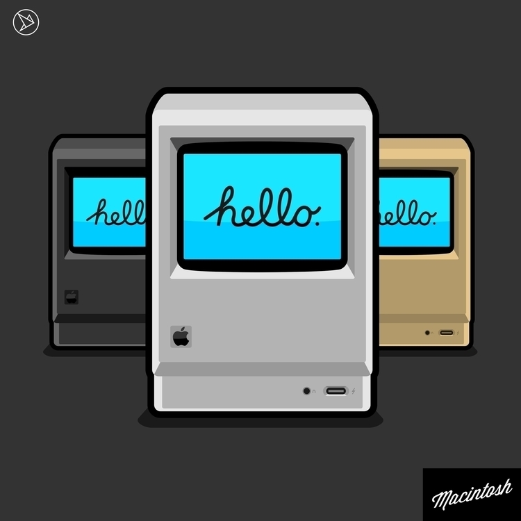 Custom Retro Macintosh - vector - superslap15 | ello