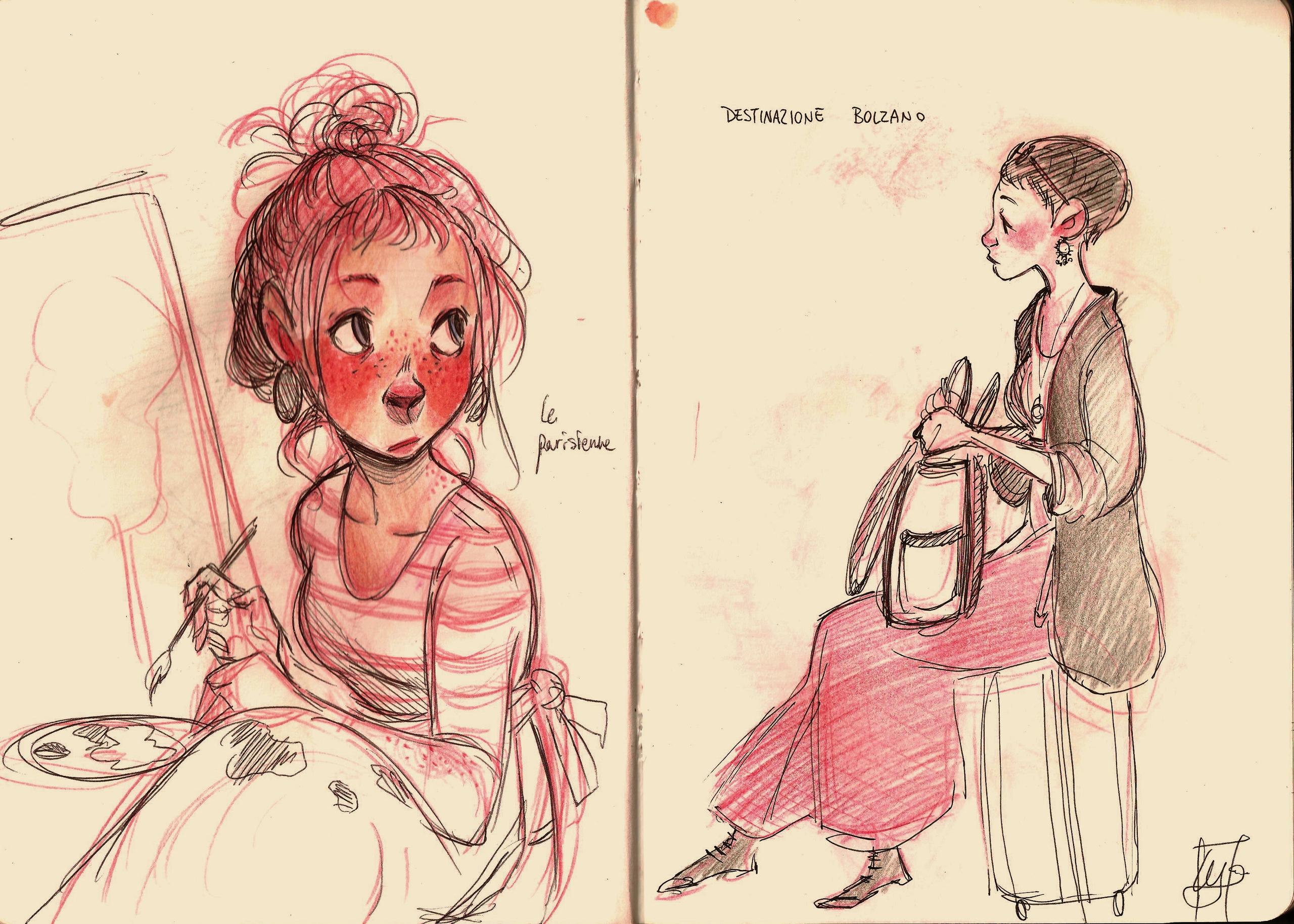 Pen sketches sketchbook. painte - illuystration | ello
